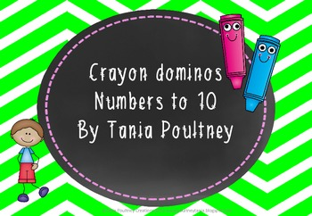 Number dominos 1-10- Back to School Crayon theme