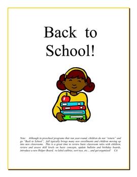 Back to School curriculum