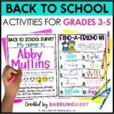 First Day of School & Back to School Activities for 3, 4,