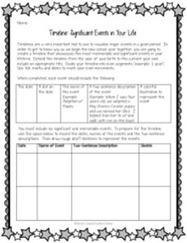 Back to School: Create a Timeline of Your Life
