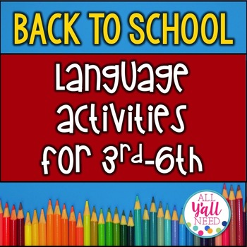 Back to School for Speech/Language Therapy - Upper Elementary