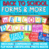 Back to School Forms for Open House Conferences & More