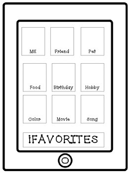 Back to School iPhone Activity: Get to Know Me, All About Me