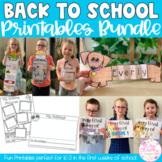 Back to School Printables BUNDLE