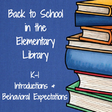 Back to School in the Elementary Library (K-1)