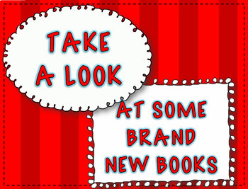 Book Display Signs for the Library or Classroom Set A Back to School Fall