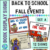 Library Book Display Signs Back to School