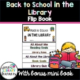 Back to School in the Library Flip Book