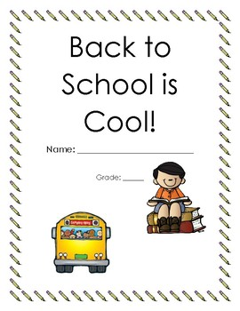 Back to School is Cool packet (older grades)