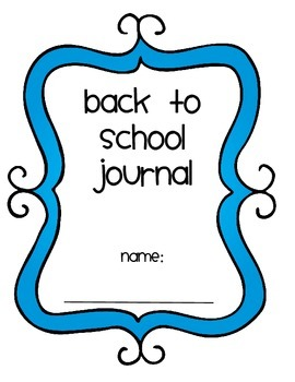 Back to School journal