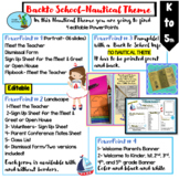 Back to School Pamphlet, Meet the Teacher, Open House, Communication/Nautical Th
