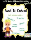 Preschool Lesson Plan Ideas for Back to School with Daily Preschool Activites