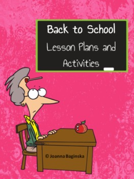 Back to School: lesson plans and activities for the first
