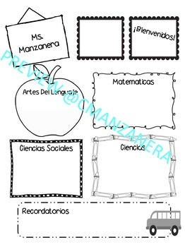 Back to School newsletter template (spanish and english)