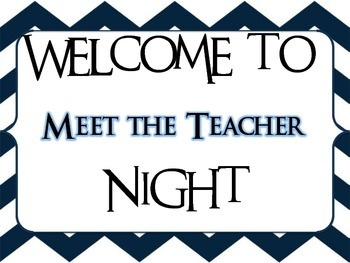 Back to School night signs-not editable