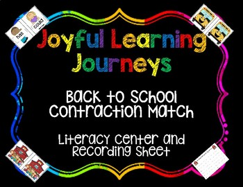 "Back to School ""not"" Contractions Center"