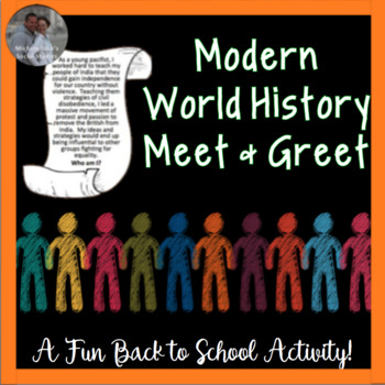Back to School or End Year Find Someone Who Meet Activity for World History