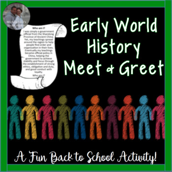 Back to School or End Year Review Early World History Meet & Greet Activity CCSS