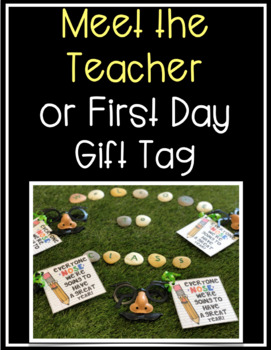 Back to School or Meet the Teacher Gift Tag