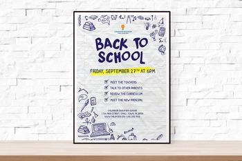Back to School or Open House Event Flyer Template for Schools