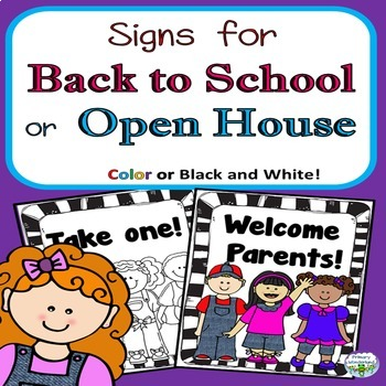 Back to School Open House Signs