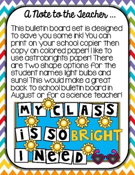 Back to School or Science Bulletin Board Template Ink Saving