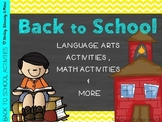 Back to School Unit (L.A. & Math)