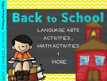 Back to School Unit (L.A. & Math)