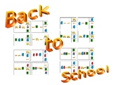 Back to School pattern clip cards