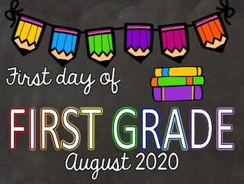 Back to School picture signs