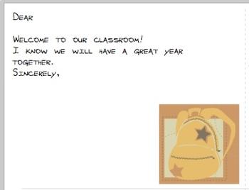 Back to School postcards, 4 designs