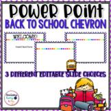 Back to School power point chevron