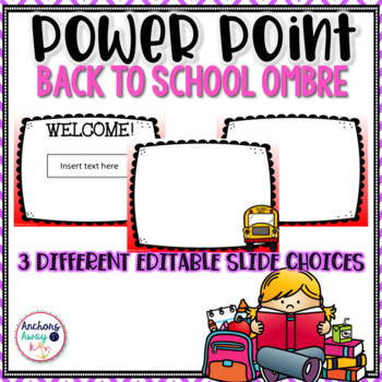 Back to School power point ombre