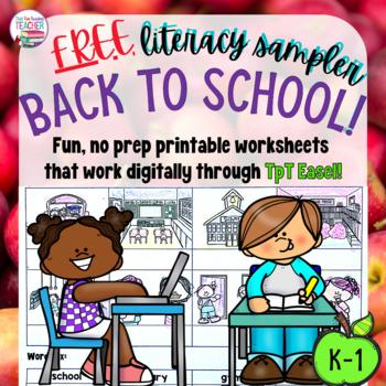 Back to School free literacy sampler!