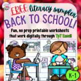 Back to School free literacy sampler!