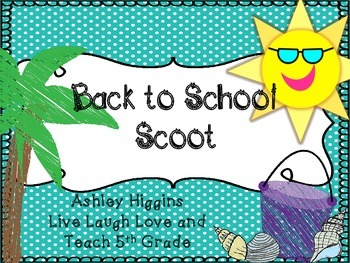 Back to School scoot (POLKA DOT Beach Theme)