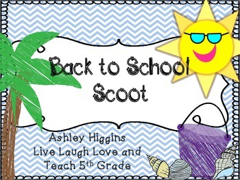 Back to School scoot (CHEVRON Beach Theme)