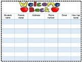 Back to School sign-in sheet