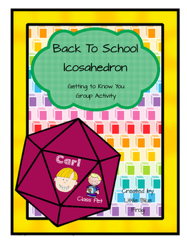Back to School--small group activity--Create an Icosahedron