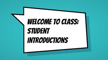 Back to School: student introductions