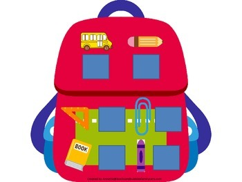Back to School themed Beginning Sounds preschool learning game.