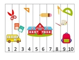 Back to School themed Number Sequence preschool learning g