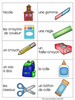 Back to School themed game in French - La tapette à mouches (rentrée scolaire)