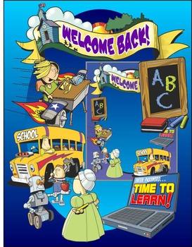 Back to School Clip Art for Back to School Activities