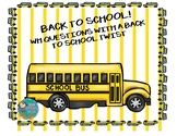 """Back to School! """"wh"""" Questions with a Back to School Twist"""
