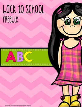 Back to School with ABC Freebie