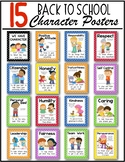 Back to School Character Posters {Citizenship} for Kindergarten & First Grade