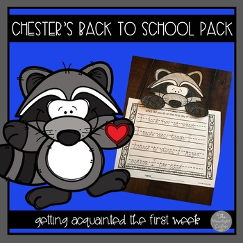 Back to School with Chester the Raccoon