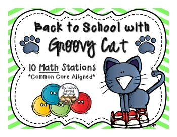 Back to School with Groovy Cat {10 Math Stations}