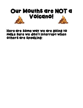 """Back to School with """"My Mouth is a Volcano!"""""""